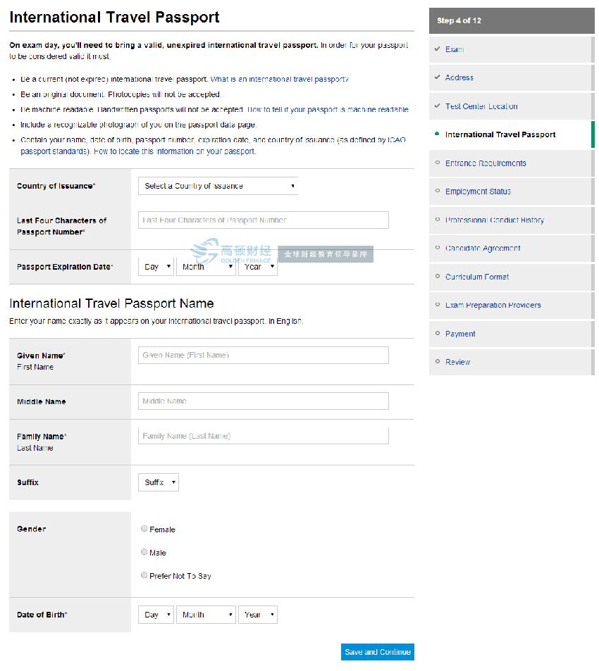 cfa注册考试报名