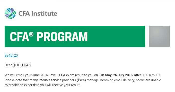 2016年6月CFA考试成绩明天(7月26日)揭晓,你需要了解的那些事