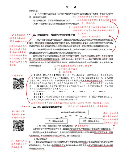 四维考霸会计科目内页展示图