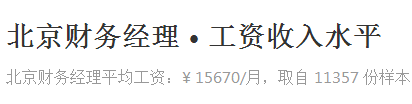 北京财务经理工资