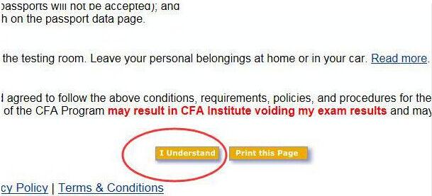 cfa准考证打印流程
