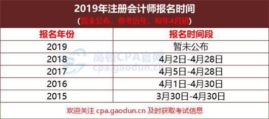 2019年南京注册会计师报名入口什么时候开通?