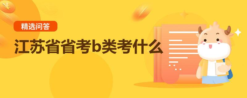 江苏省省考b类考什么
