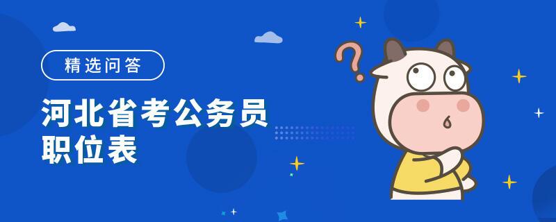 河北省考公务员职位表
