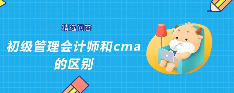 初级管理会计师和cma的区别